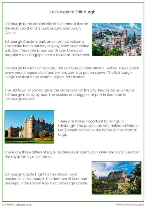 Reading comprehension - Edinburgh