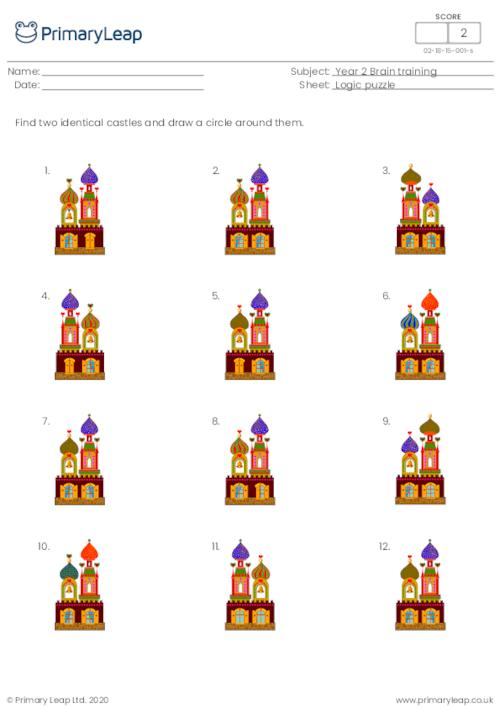 Find two identical pictures - Castles