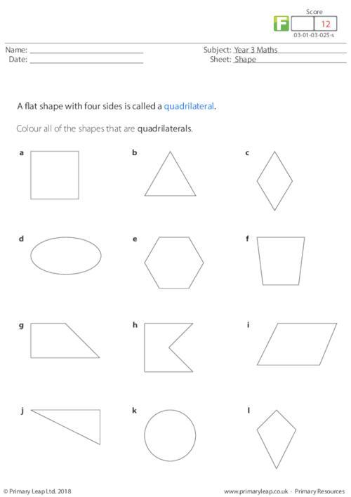 Shape - Quadrilaterals