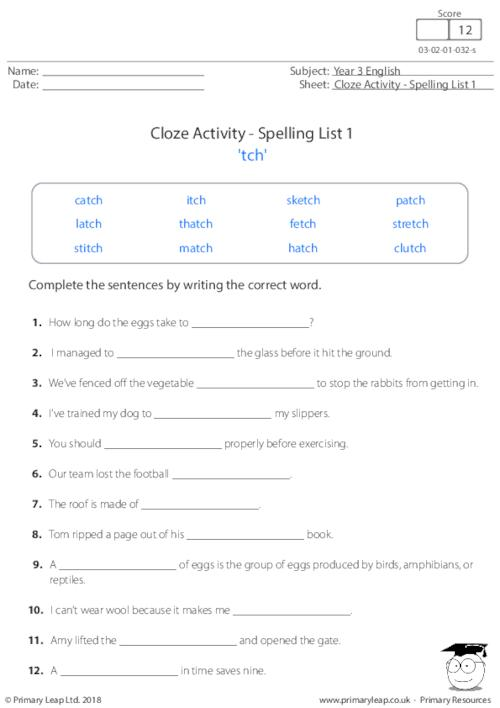 Year 3: Literacy Printable Resources & Free Worksheets For Kids  PrimaryLeap.co.uk