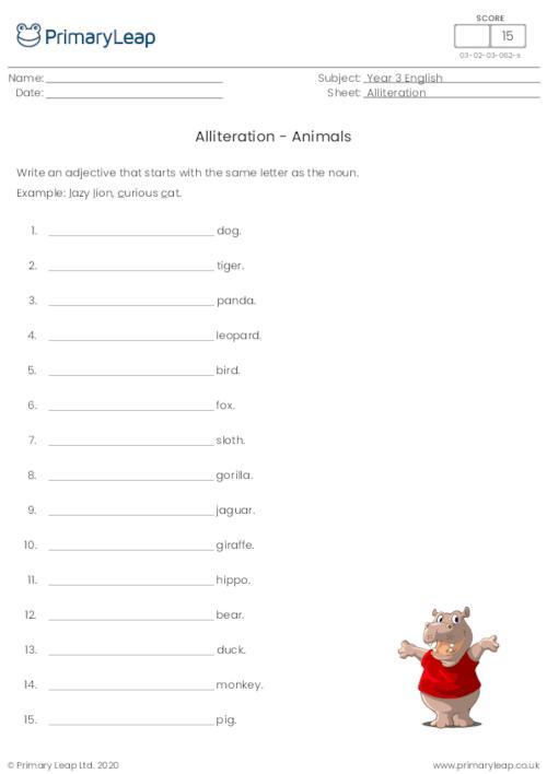 Alliteration - Animals