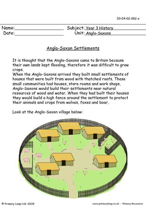 Anglo-Saxon settlements
