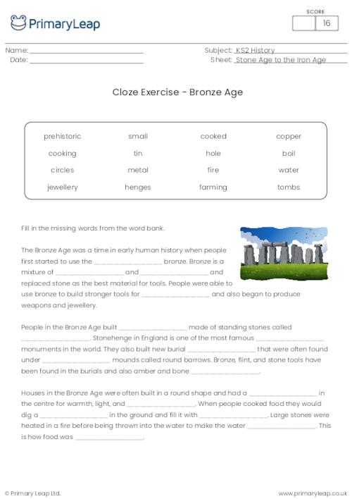 Cloze Exercise - The Bronze Age