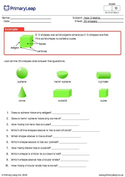 3-D shapes (foundation)