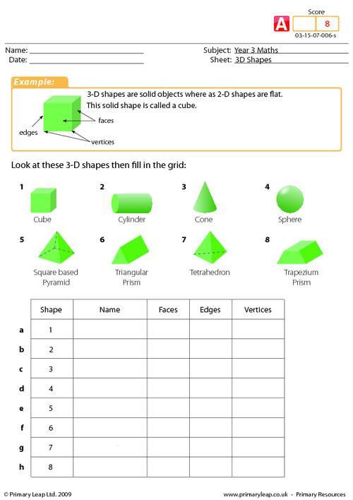 3-D shapes (advanced)