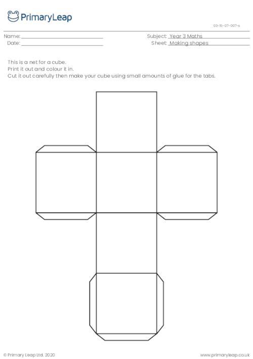 Making shapes - Cube