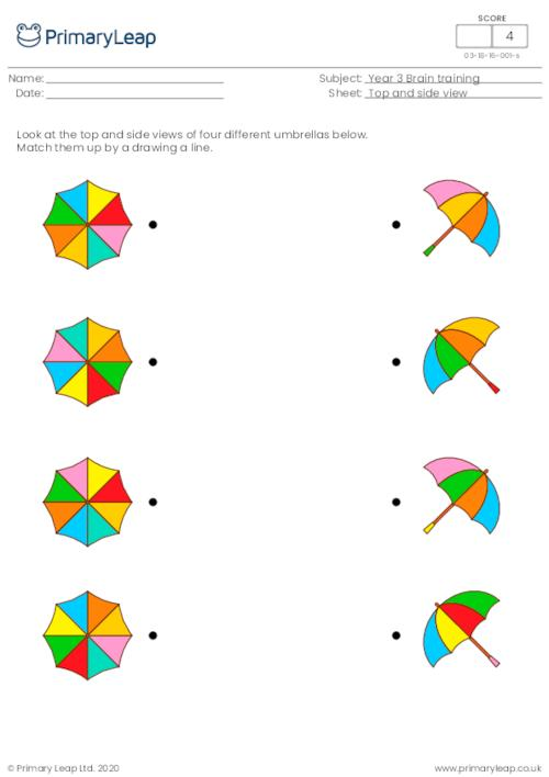Top and side view - Umbrellas