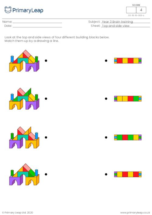 Top and side view - Building blocks
