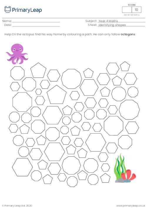Identifying shapes - Octagons