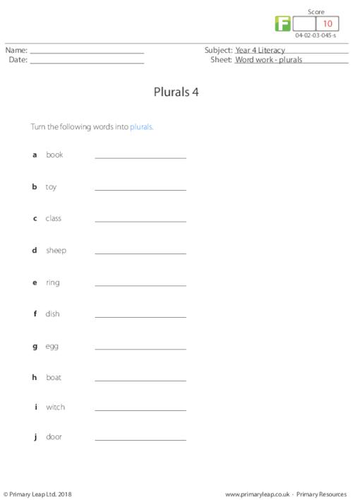 Plurals 4