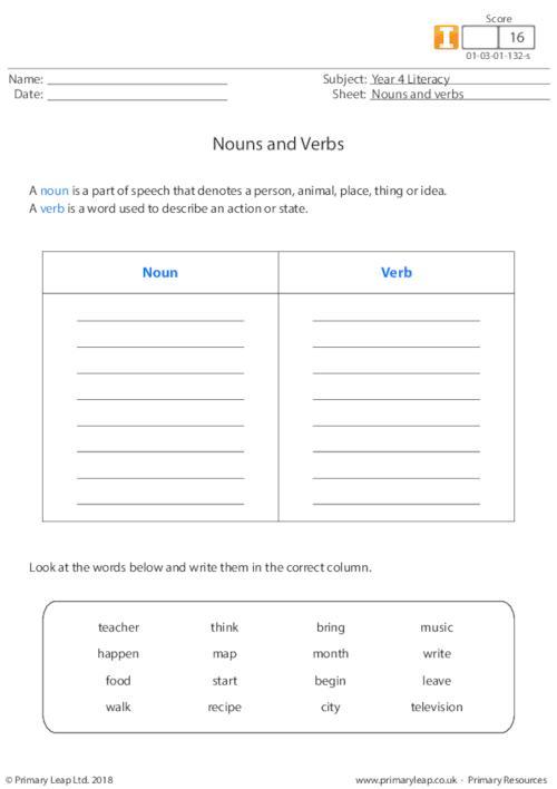 Nouns and verbs 2