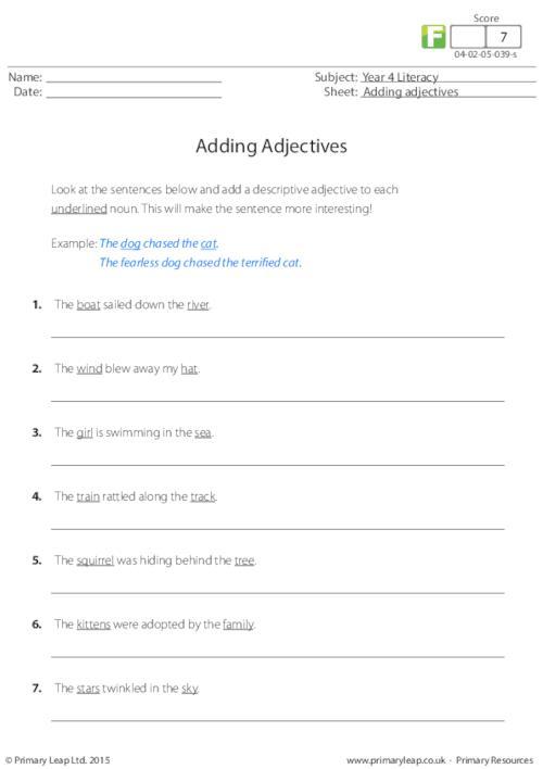 Adding adjectives (1)