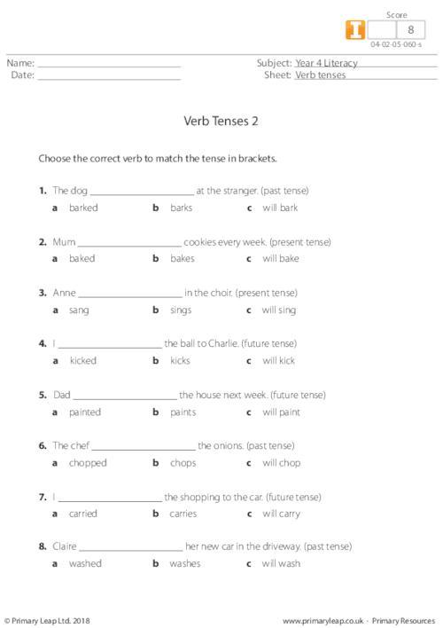 Verb tenses 2