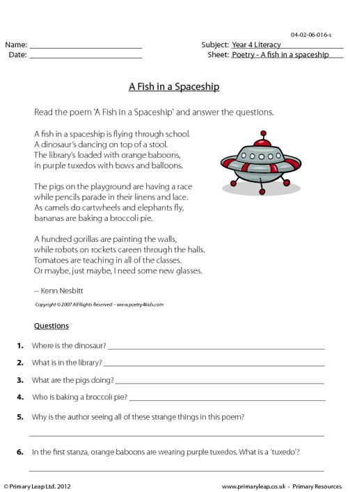 Comprehension - A Fish in a Spaceship