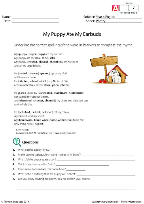 Poetry - My Puppy Ate My Earbuds