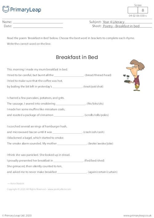 Poetry - Breakfast In Bed