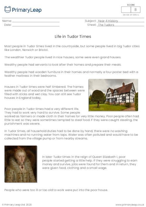 Life In Tudor Times