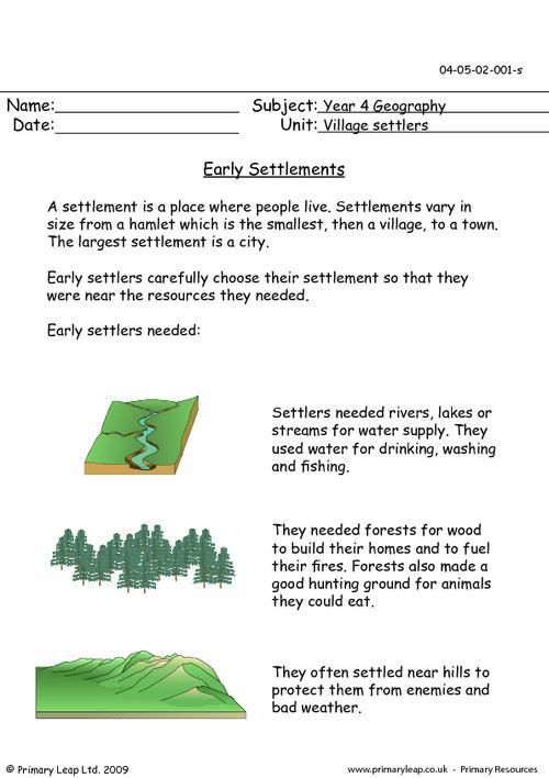 Early Settlements