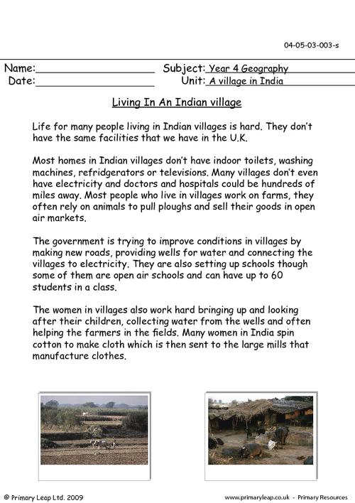 Living In An Indian Village