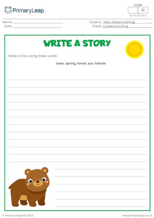 Write a story - Brown bear
