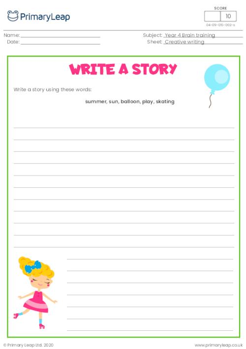 Write a story - Summer fun