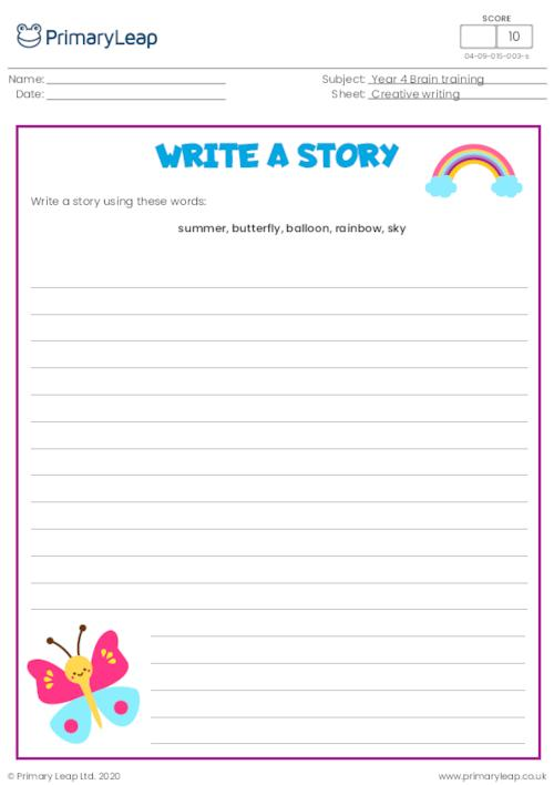 Write a story - Summer day