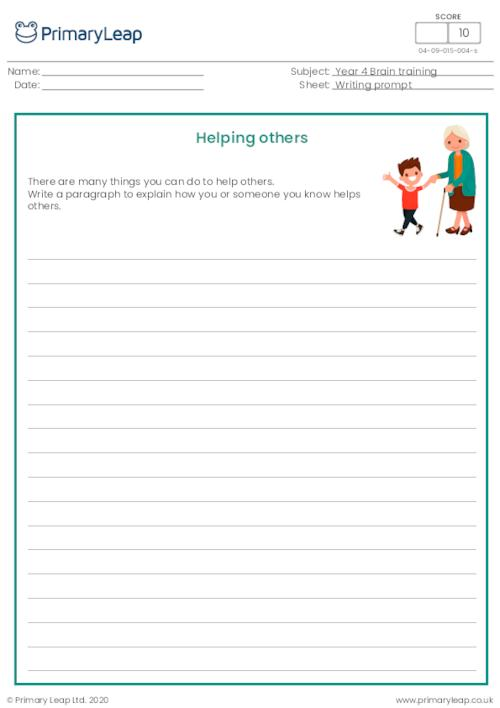 Writing prompt - Helping others