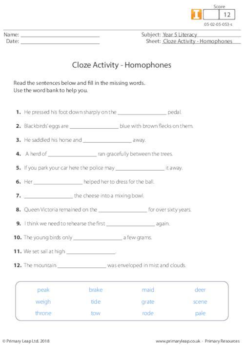 Homophones 2