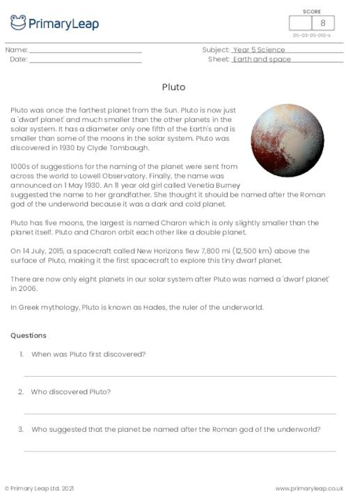 The planets - Pluto