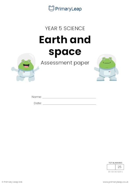 Y5 Earth and space assessment