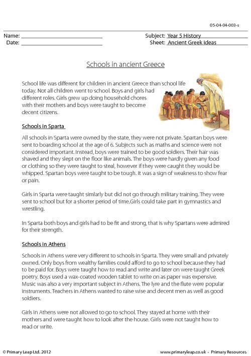Schools In Ancient Greece