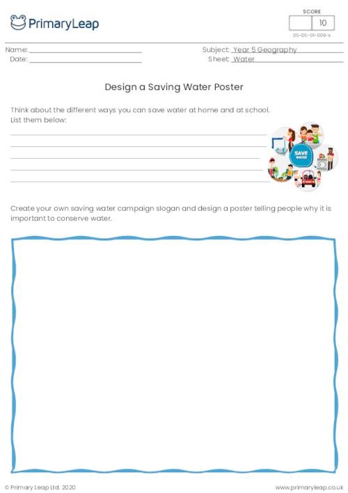 Design a Saving Water Poster