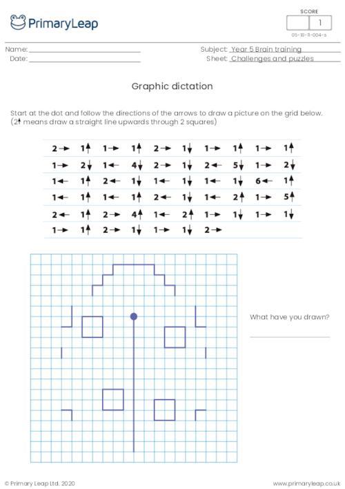 Graphic dictation (ladybird)