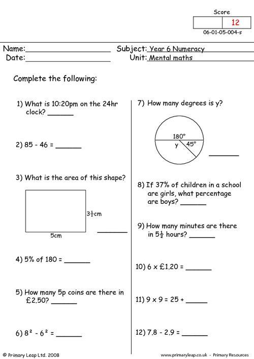 Mental maths 4