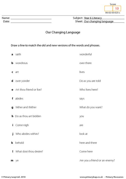 Our changing language