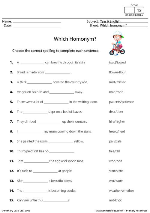 Which Homonym?