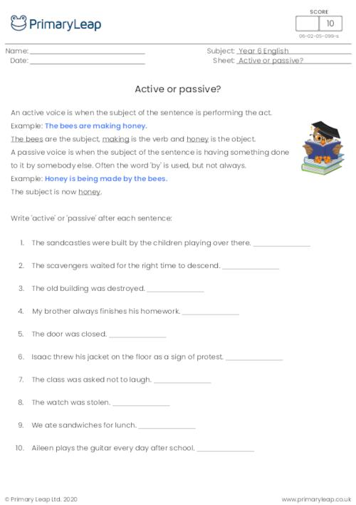 Year 6 Printable Resources & Free Worksheets For Kids PrimaryLeap.co.uk