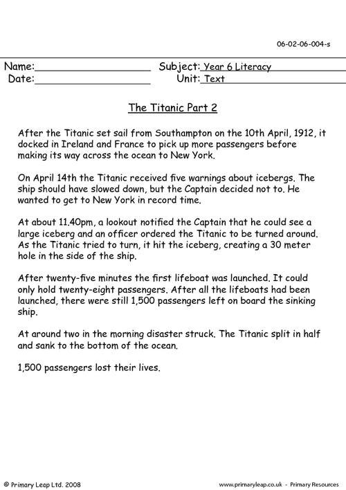 The Titanic part 2
