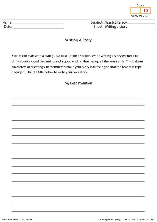 Writing a story - My best invention