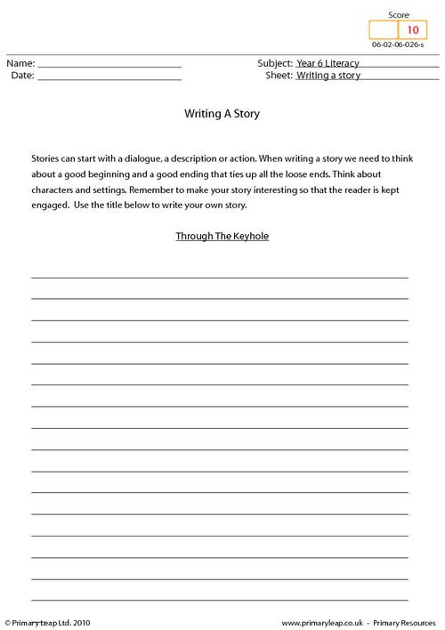 Writing a story - Through the keyhole