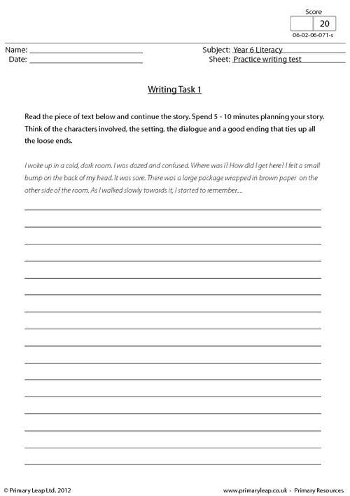 Practice writing test 1