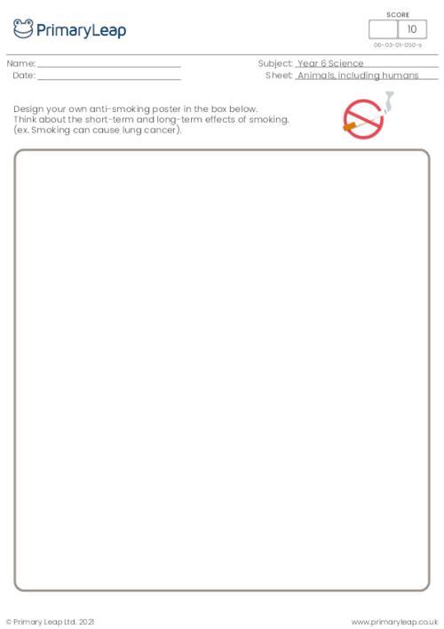 Design an anti-smoking poster