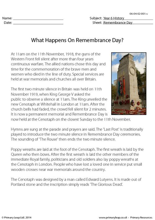 What Happens On Remembrance Day?