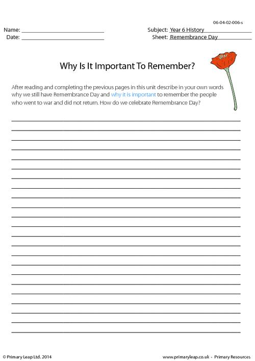 Why Is It Important To Remember?