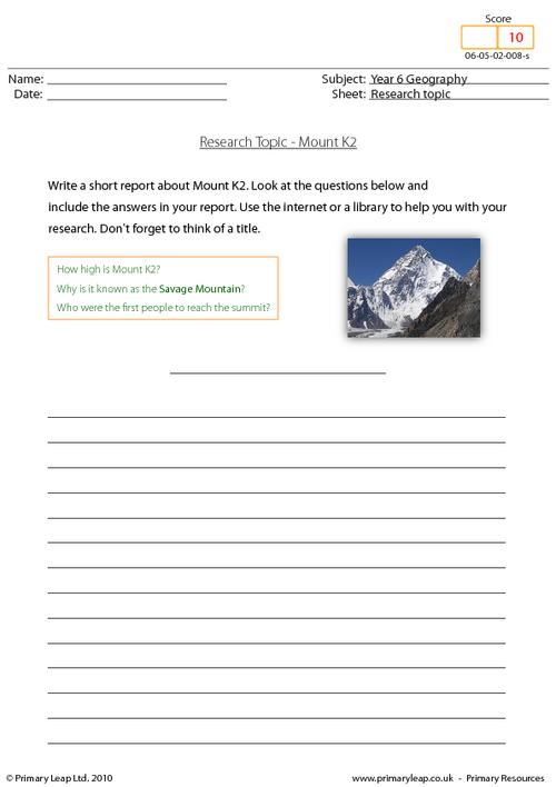 Research topic - Mount K2