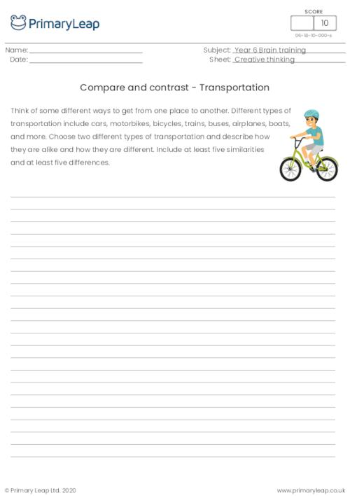Compare and contrast - Transportation