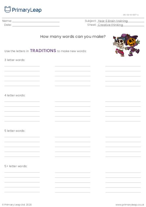 How many words? (traditions)
