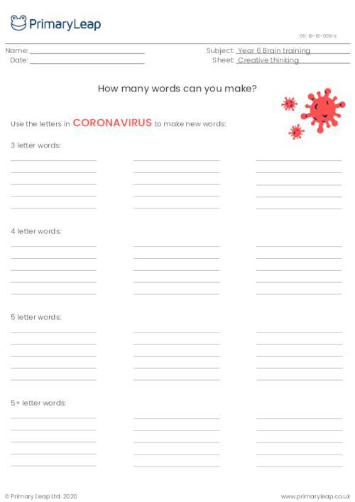 How many words? (coronavirus)