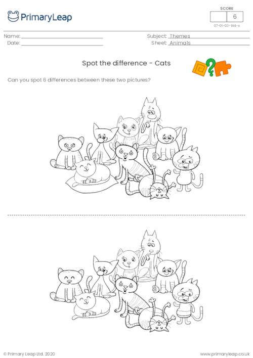 Spot the Difference - Cats