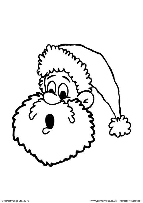 Colouring picture - Santa Claus 2